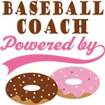 Baseball Coach Powered By Doughnuts Gift T-shirts