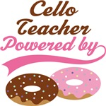 Cello Teacher Powered By Doughnuts Gift T-shirts