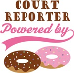 Court Reporter Powered By Donuts Gift T-shirts