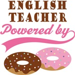 English Teacher Powered By Donuts Gift T-shirts