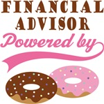 Financial Advisor Powered By Donuts Gift T-shirts