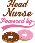 Head Nurse Powered By Donuts Gift T-shirts
