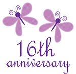 16th Anniversary Gift Purple Butterfly