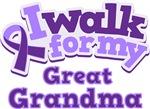 WALK FOR GREAT GRANDMA ALZHEIMER'S T-SHIRTS