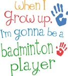 Future Badminton Player Kids T-shirts