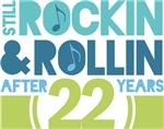 22nd Anniversary Rock N Roll Tshirts