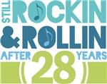 28th Anniversary Rock N Roll Tshirts