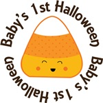 Candy Corn Baby's 1st Halloween Tee Shirts