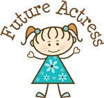 Future Actress Stick Girl Occupation T-shirts
