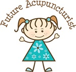 Future Acupuncturist Stick Girl Occupation Shirts