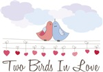 Two Birds In Love Couples Shirts