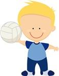 Volleyball Boy Kids Tee Shirts