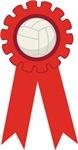 Volleyball Red Award Ribbon Tee Shirts and Gifts