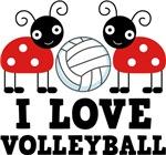 Ladybug I Love Volleyball T-shirts