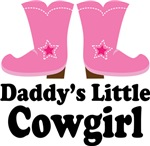 Daddy's Little Cowgirl Kids Tee Shirts