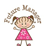 Future Manager Stick Girl Occupation T-shirts