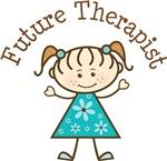 Future Therapist Stick Girl Occupation T-shirts