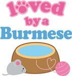 Loved By A Burmese Cat T-shirts