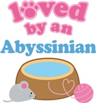 Loved By An Abyssinian Cat T-shirts