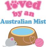 Loved By An Australian Mist Cat T-shirts