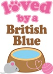 Loved By A British Blue Tshirt Gifts