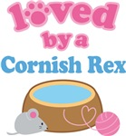 Loved By A Cornish Rex Cat T-shirts