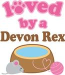 Loved By A Devon Rex Tshirt Gifts