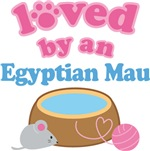 Loved By An Egyptian Mau Cat T-shirts