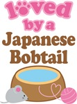 Loved By A Japanese Bobtail Tshirt Gifts
