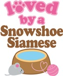 Loved By A Snowshoe Siamese Tshirt Gifts