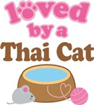 Loved By A Thai Cat Tshirt Gifts