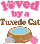 Loved By A Tuxedo Cat Tshirt Gifts