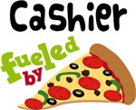 CASHIER Funny Fueled By Pizza T-shirts