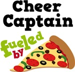 Cheer Captain Funny Fueled By Pizza Tshirts