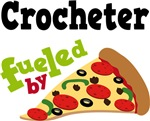 CROCHETER Funny Fueled By Pizza T-shirts