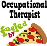 OCCUPATIONAL THERAPIST Funny Fueled By Pizza T-shi