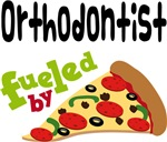 ORTHODONTIST Funny Fueled By Pizza T-shirts