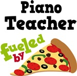 Piano Teacher Fueled By Pizza T shirts