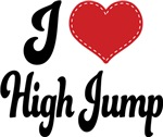 I Heart High Jump T-shirts and Gifts