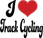 I Heart Track Cycling T-shirts and Gifts