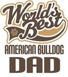 American Bulldog Dad (Worlds Best) T-shirts