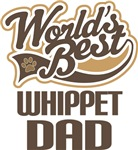 Whippet Dad (Worlds Best) T-shirts