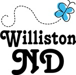 Williston North Dakota Butterfly T-shirts