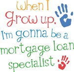 Future Mortgage Loan Specialist Kids T-shirts