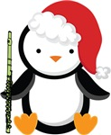 Flute Christmas Penguin Gifts and Shirt