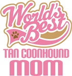 Tan Coonhound Mom T-shirts