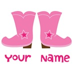 Personalized Cowgirl Boot T-shirts and Hoodies