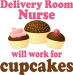Delivery Room Nurse cupcake T-shirts