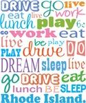 EAT SLEEP LIVE DREAM Rhode Island T-SHIRTS