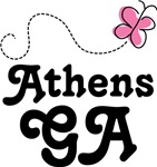 Athens Georgia Butterfly T-shirts and Hoodies